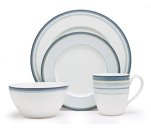 - Noritake Java Graphite Swirl 4-Piece Place Setting