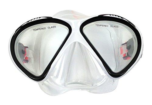 Tunturi 14TUSSW112 Masque de Plongée Mixte Adulte, Noir, Taille Unique