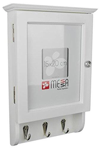 Shabby Chic Style Key Storage Cabinet Keys Holder 6 Hooks Wall ...