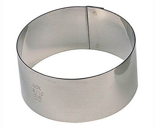 Paderno World Cuisine Pack of 6 Round Stainless Steel Pastry Rings, 2-Inch ()