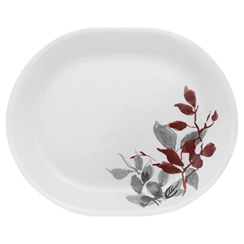 Platter White Leaf (Corelle® Boutique™ Kyoto Leaves 12.25