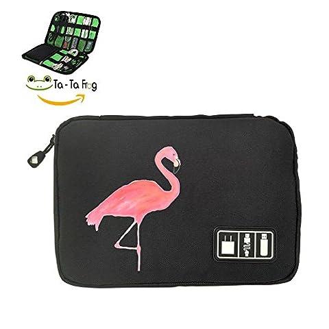 Flamingo Travel Portable Electronics Accessories Carry Case Bag Universal cable Organizer Gadget Management Bags - Mesh Wader Bag