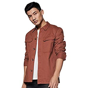 Amazon Brand – Inkast Denim Co. Men's Shacket Style Regular Fit Cotton Lightweight Jacket