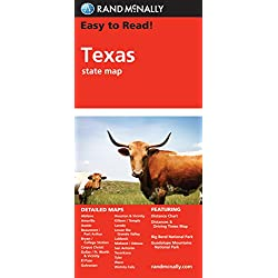 Easy To Read: Texas State Map (Rand McNally Easy to Read!)
