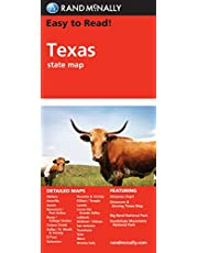 Rand McNally Easy to Read! Texas State Map