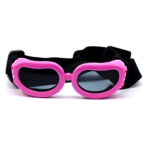 WESTLINK Dog Sunglasses Eye Wear UV Protection Goggles Pet Fashion Extra Small Pink from WESTLINK