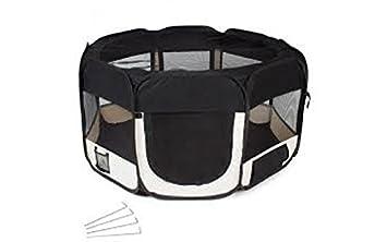 animalmarketonline cerca jaula Valla Caseta para perros gatos Conejos Cavie XL 152 cm negro: Amazon.es: Productos para mascotas