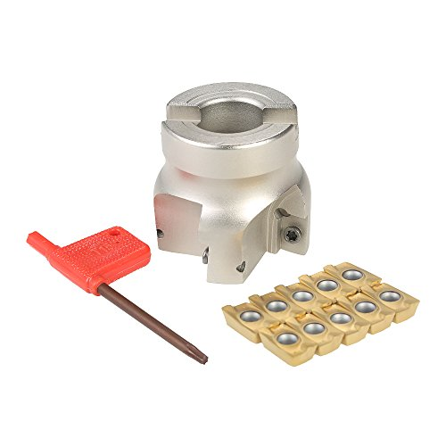 KKmoon BAP400R-50-22 4 Flute Face End Mill Milling Cutter + 10pcs/box APMT1604 Carbide Inserts + T15 Wrench CNC Milling Machine Tools