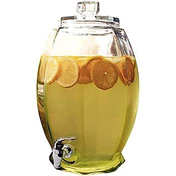 Circleware Cranston Huge Glass Beverage Drink Dispenser, 3 gallon, Clear