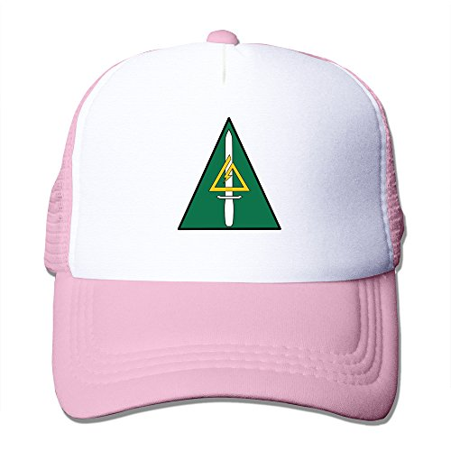Unisex US Delta Force Logo Casual Mesh Hat Baseball Cap Pink