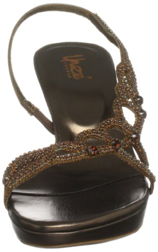 tacco Sandali donna Unze Evening Sandals col L18453w Braun Marrone ICwzUpqx
