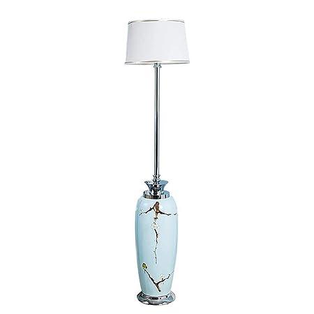 & Lámparas de pie Lámparas de pie LED de cerámica pintadas a ...