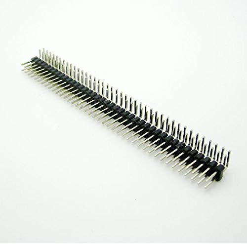3PCS 2.54mm 2 x 40 Pin Male Double Row Right Angle Pin Header Strip
