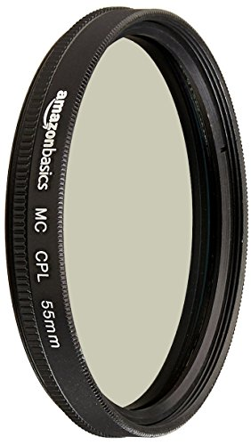 AmazonBasics Circular Polarizer Camera Photography Lens - 55 mm