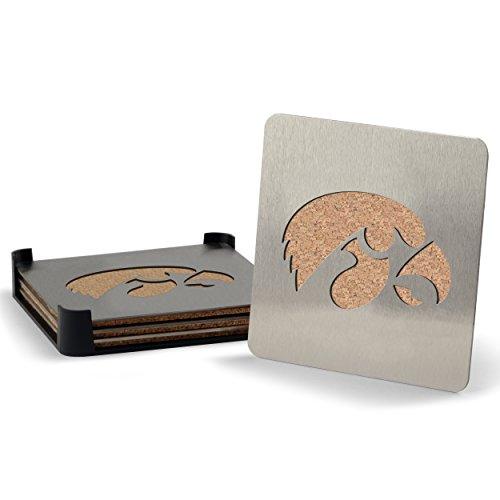 NCAA Iowa Hawkeyes Boaster Stainless Steel Coaster Set of 4