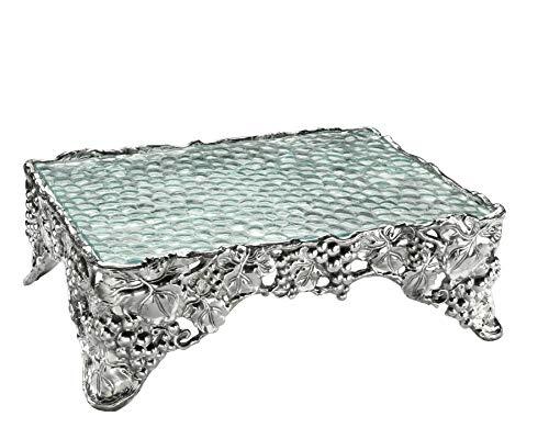 Arthur Court Designs Aluminum Grape Cake Pedestal Sheet Stand 17