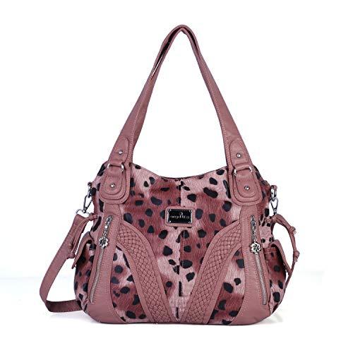 (Angelkiss Women Top Handle Satchel Handbags Shoulder Bag Messenger Tote Washed Leather Purses Bag ...)