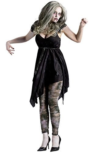 Fun World sexy womens zombie ghost adult halloween costume Grey