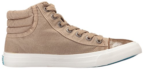 Blowfish Womens Madras Sneaker Deserto Sabbia Color Lavato Tela / Oro