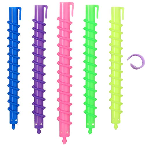 40 Pieces Spiral Hair Perm Rod Spiral Rod Plastic Large Barber Hairdressing Styling Curling Perm Rod Hair Rollers Salon Tools for Women Girls(5.98 X 0.47 Inch)