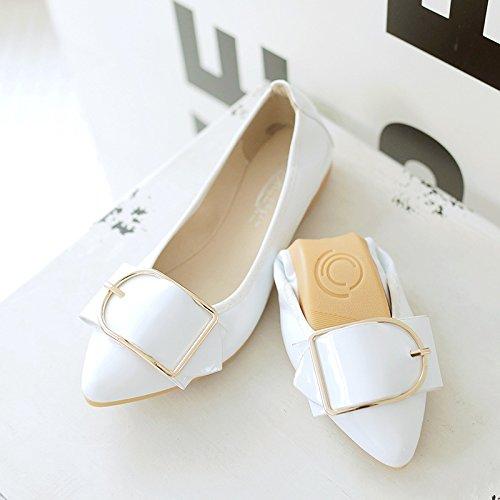 GAOLIM omelettes Femme Chaussures Light-paint, qui à chaussures à bout avec un fond plat de chaussures de chaussures de chaussures de femmes enceintes Volume Volume Volume, Noir, 43