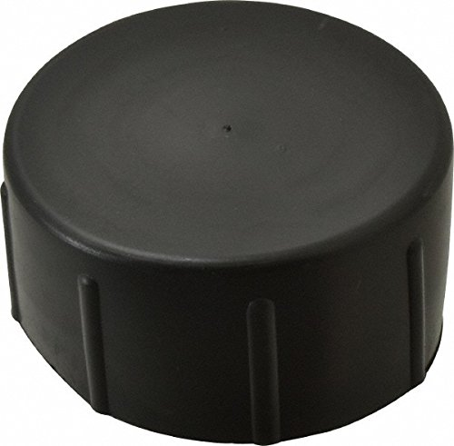 2 NPT ID Quick-Lock Cap, Polyethylene, Black 100 Pack