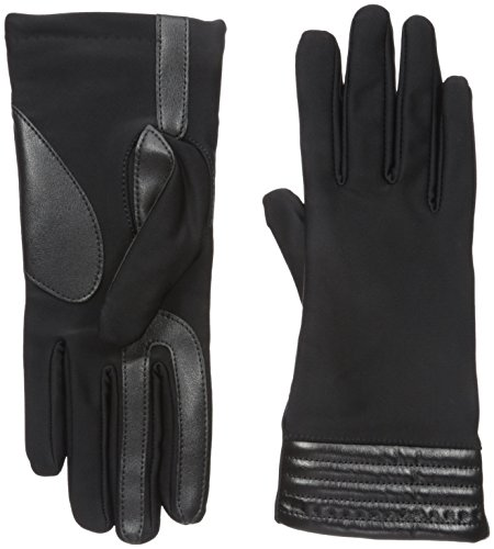 - Isotoner Women's Spandex Stretch Touchscreen Texting Cold Weather Gloves with Warm Fleece Lining and Metallic Details