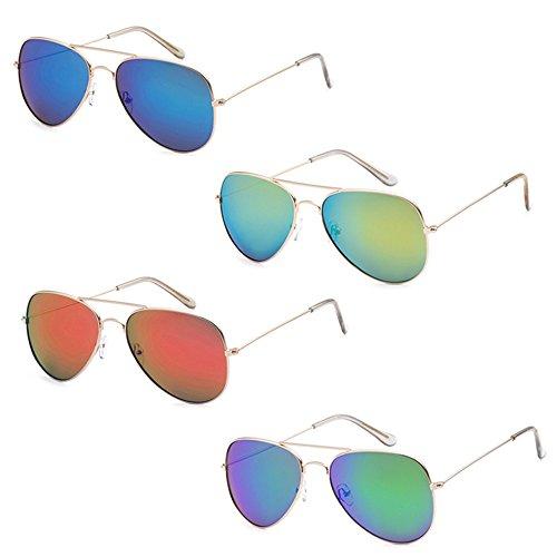 WHOLESALE BULK LOT PROMOTIONAL UNISEX CLASSIC PILOT AVIATOR SUNGLASSES - 4 - Glasses Sun Wholesale