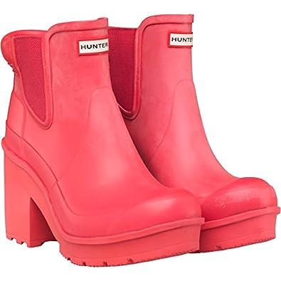 lowest price 9729e fe0a7 Hunter Damen Original Blockabsatz Chelsea Boots BRIGHT CORAL ...