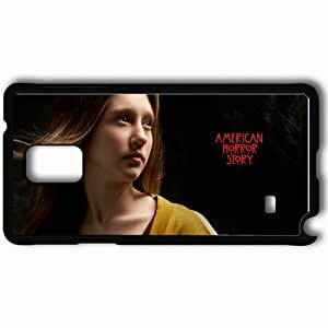 Personalized Samsung Note 4 Cell phone Case/Cover Skin American Horror Story Taissa Farmiga Violet Harmon face Movies Black