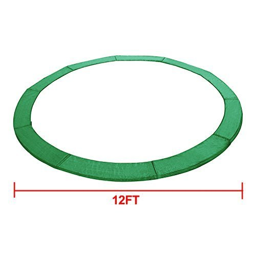 Exacme 6180-CP12G Trampoline Replacement Safety Pad Frame Spring Round Cover, Green, 12' by Exacme