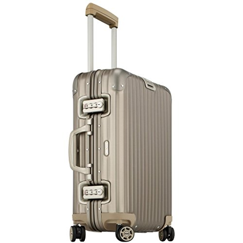 Rimowa Topas Titanium IATA Luggage 21″ inch Cabin Multiwheel 32.0 L Light Bronze