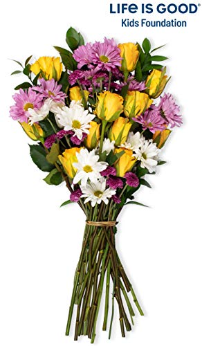 (Benchmark Bouquets Life is Good Flowers Yellow, No Vase (Fresh Cut)