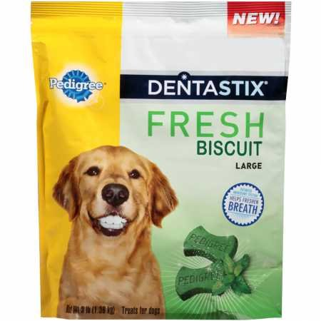 - Pedigree Dentastix Fresh Biscuit Large Dog Treats (3 lb)