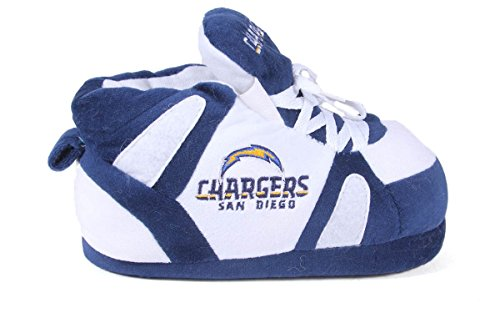 Mens Comfy Officially And Happy San Slippers Nfl Womens Sneaker Feet Chargers Diego Licensed 46O6qI
