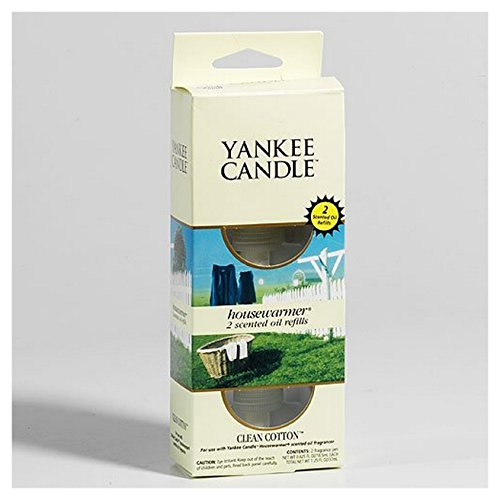 Yankee Candle Clean Cotton Electric Home Fragrancer Twin Pack Refill