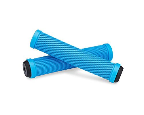 25Nine Ronin Grip Without Flange - Flangeless BMX Bike and Scooter Handlebar Grips with End Plugs - Blue