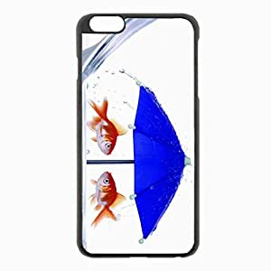 iPhone 6 Plus Black Hardshell Case 5.5inch - fish umbrella glass abstract unusual Desin Images Protector Back Cover