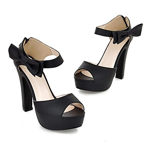 Peep Hochhackige Zurück Schuhe Party Sandalen Knöchelriemen YE Schwarz Kleid Toe frauen Plattform Bogen Reißverschluss Pumps C5nYqZ