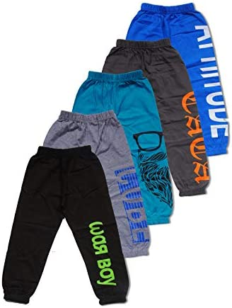 T2F Boy's Loose Fit Track Pant (Pack of 5)