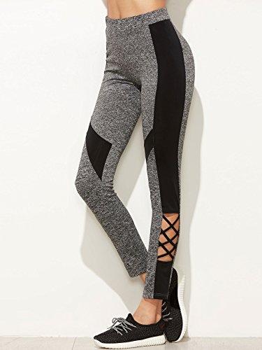 SweatyRocks Women's Stretchy Skinny Color Block Workout Leggings Yoga Tights