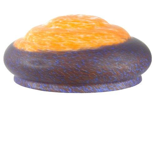 Meyda Tiffany Pate De Verre 3 Tier Shade in Orange and Blue Finish