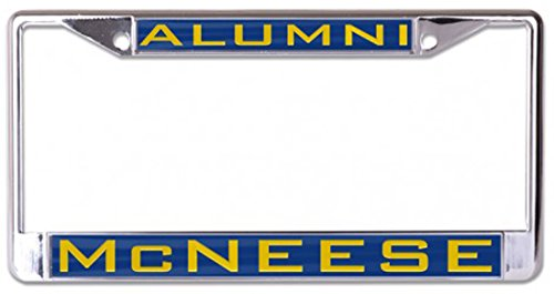 (Wincraft McNeese State University Alumni License Plate Frame, Chrome Metal with Inlaid Acrylic)