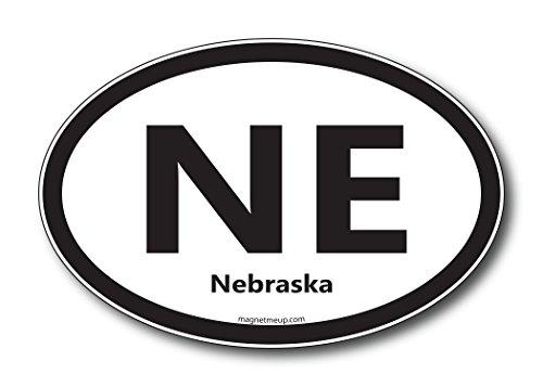 NE Nebraska Car Magnet US State Oval Refrigerator Locker SUV Heavy Duty Waterproof…