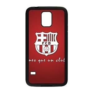 FC Barcelona Logotipo caso Z0H87N0PF funda Samsung Galaxy S5 funda H1CJKM negro
