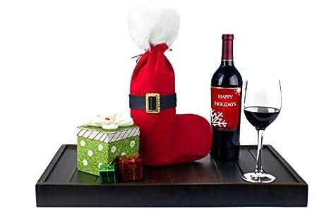 Amazon.com: 2 Pcs Navidad Bolsas de regalo de vino Set Vino ...