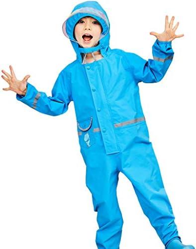 Vine Kids One Piece Rain Suit Boys Girls Waterproof Rainsuit Toddler Rain Coat Coverall for 2-8 Years