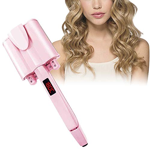 cherrysong Curling Tongs 26/32mm,Curling Iron with Ceramic Tourmaline Coating and Heat-Insulated Tip,LCD Screen Hair Curler Wet Dry Household Egg Curling Stick, 27-Level Adjustable Temperature