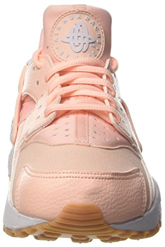 Nike Wmns Air Huarache Run, Entrenadores para Mujer Rosa (Sunset Tint/white/gum Yellow)
