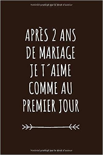 Carnet De Notes Pour Elle Ou Pour Lui Idée Cadeau 2 Ans De